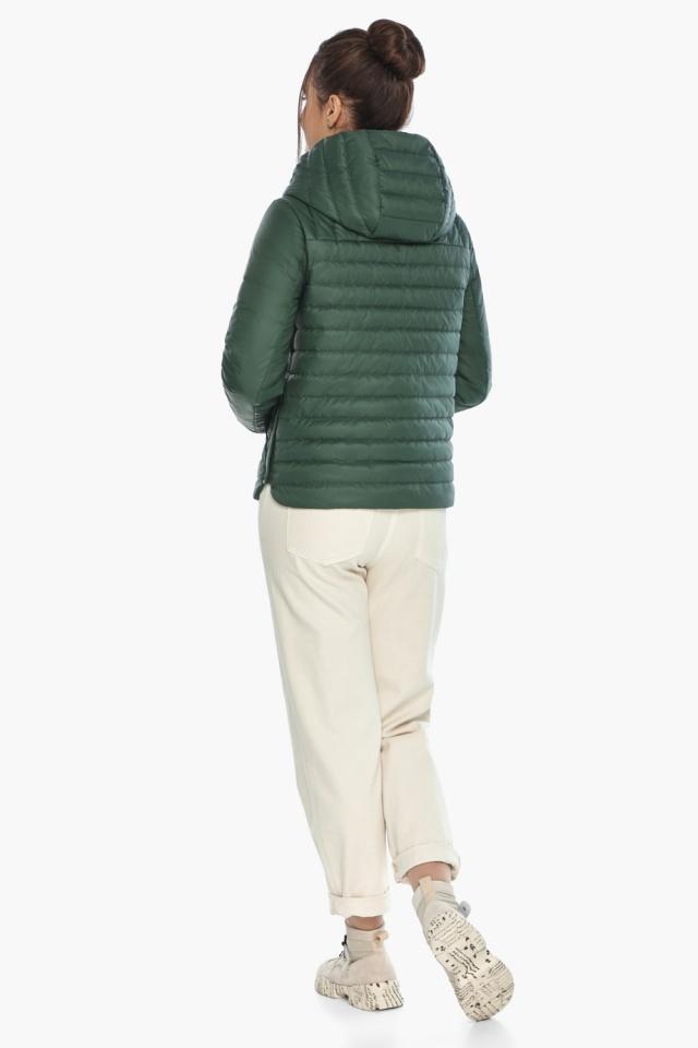"""Женская нефритовая куртка на змейке осенне-весенняя модель 64150 Braggart """"Angel's Fluff"""" фото 5"""