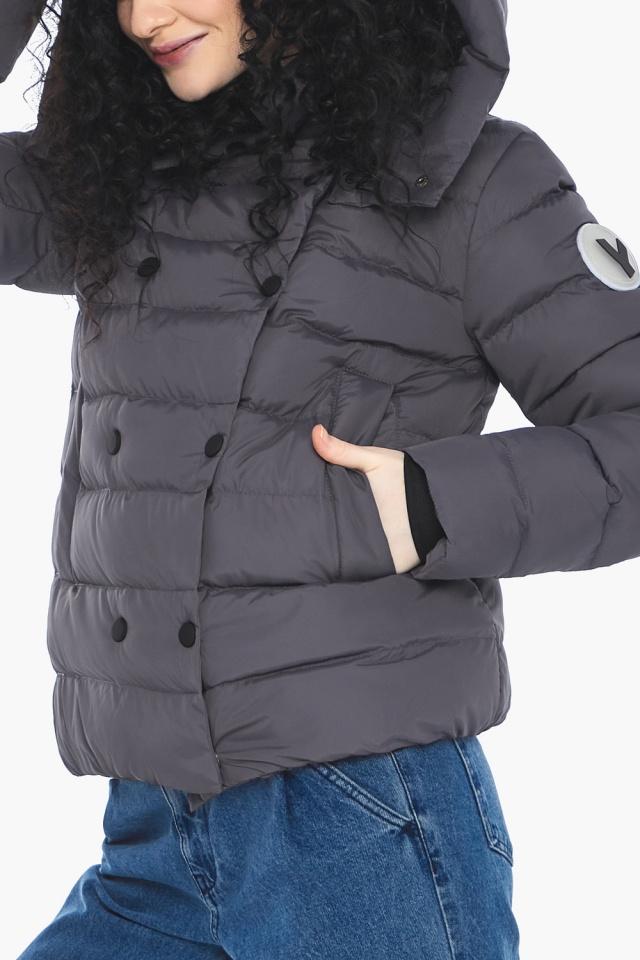 Классическая осенняя куртка в молодежном стиле графитовая модель 22150 Youth фото 9