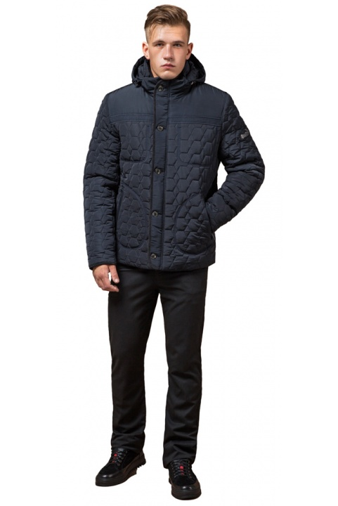 """Куртка брендовая для мальчика цвет тёмно-синий-чёрный модель 3570 Braggart """"Dress Code"""" фото 1"""