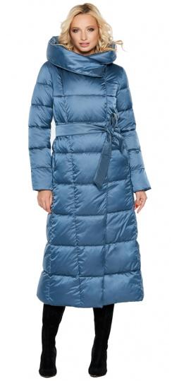 """Длинная женская куртка аквамариновая модель 31056 Braggart """"Angel's Fluff"""" фото 1"""