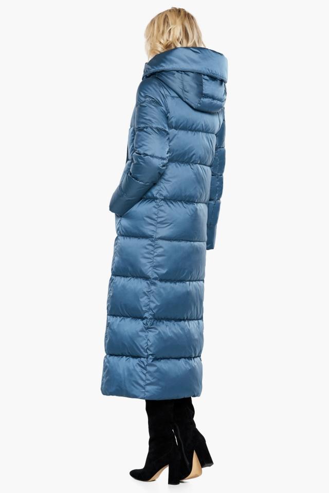 """Длинная женская куртка аквамариновая модель 31056 Braggart """"Angel's Fluff"""" фото 7"""