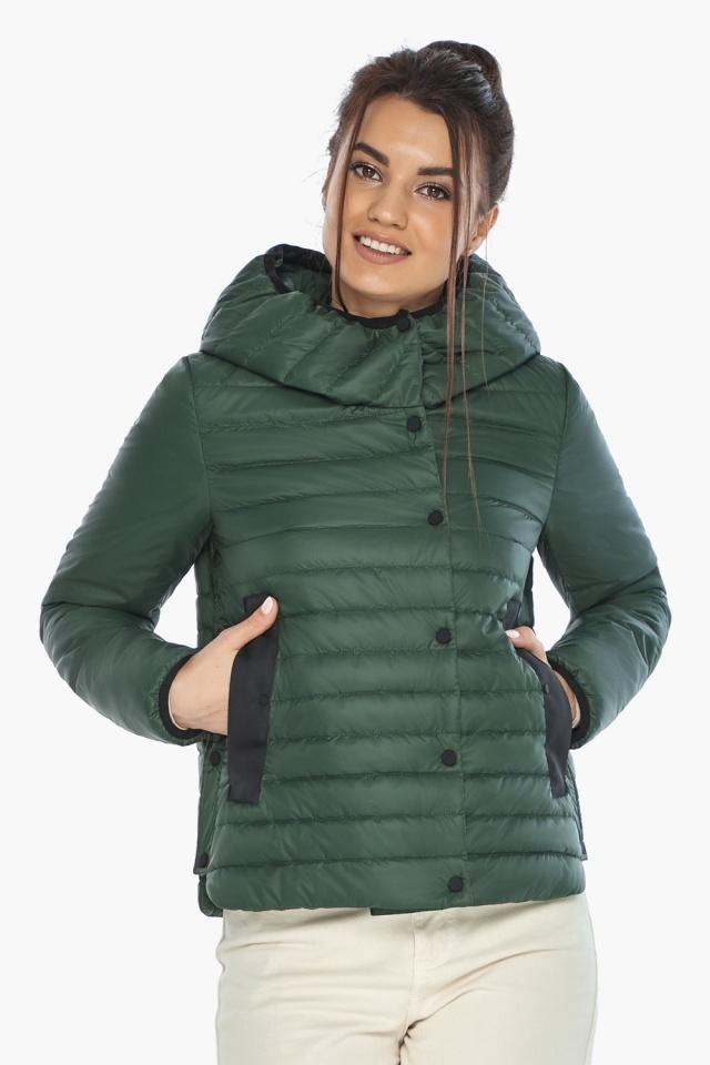 """Женская нефритовая куртка на змейке осенне-весенняя модель 64150 Braggart """"Angel's Fluff"""" фото 4"""