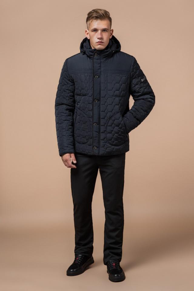 """Куртка брендовая для мальчика цвет тёмно-синий-чёрный модель 3570 Braggart """"Dress Code"""" фото 2"""