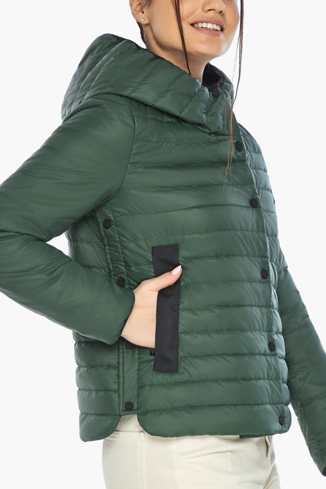 """Женская нефритовая куртка на змейке осенне-весенняя модель 64150 Braggart """"Angel's Fluff"""" фото 6"""