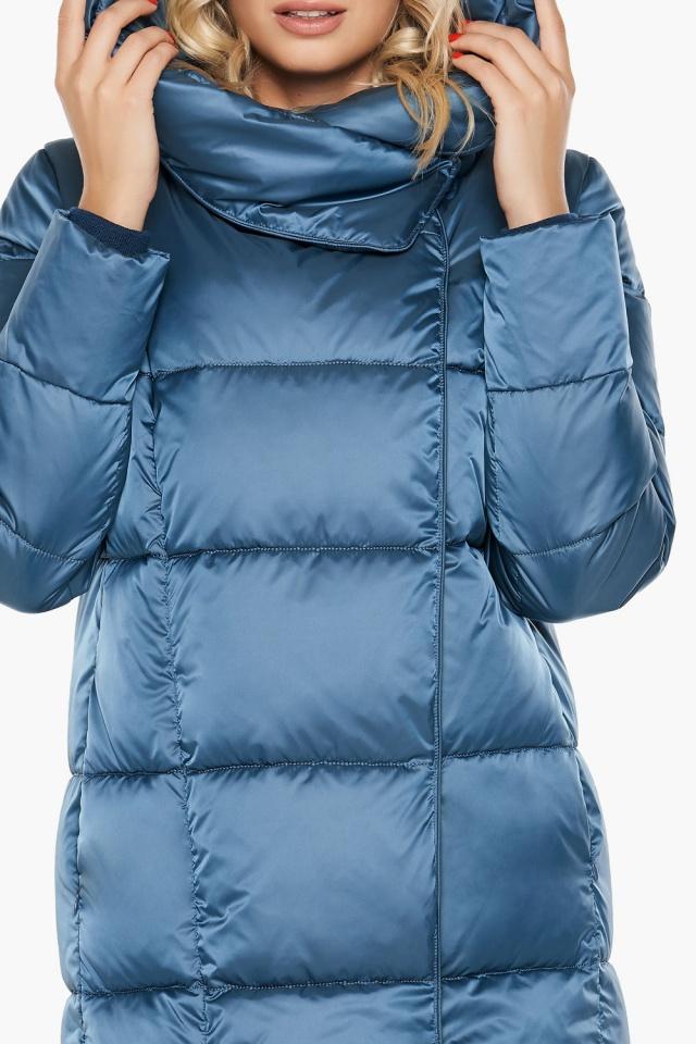 """Длинная женская куртка аквамариновая модель 31056 Braggart """"Angel's Fluff"""" фото 8"""