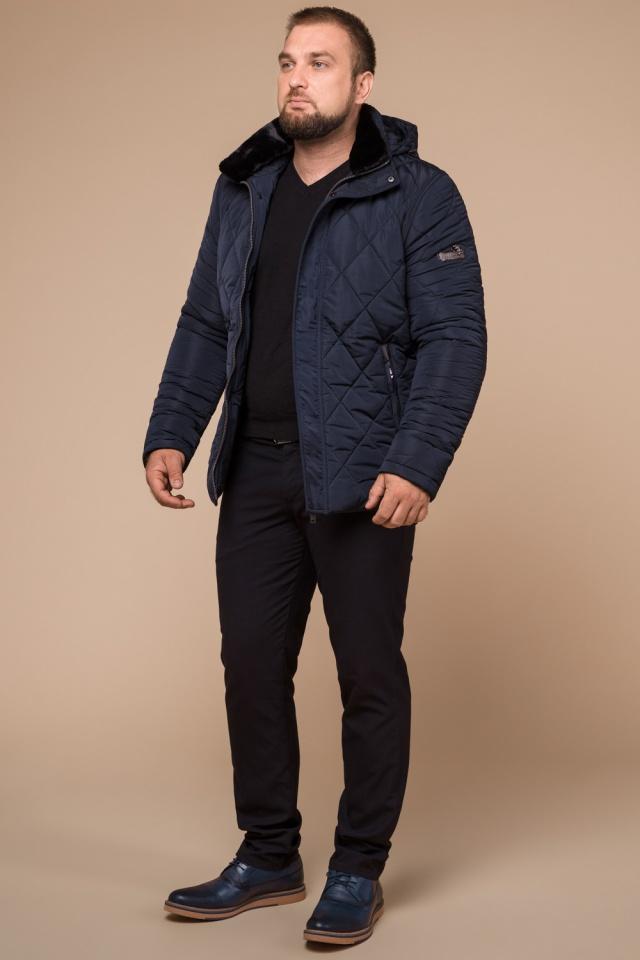 "Синя практична чоловіча куртка на зиму модель 19121 Braggart ""Dress Code"" фото 3"