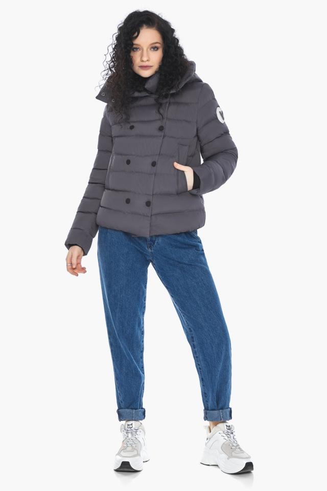 Классическая осенняя куртка в молодежном стиле графитовая модель 22150 Youth фото 6