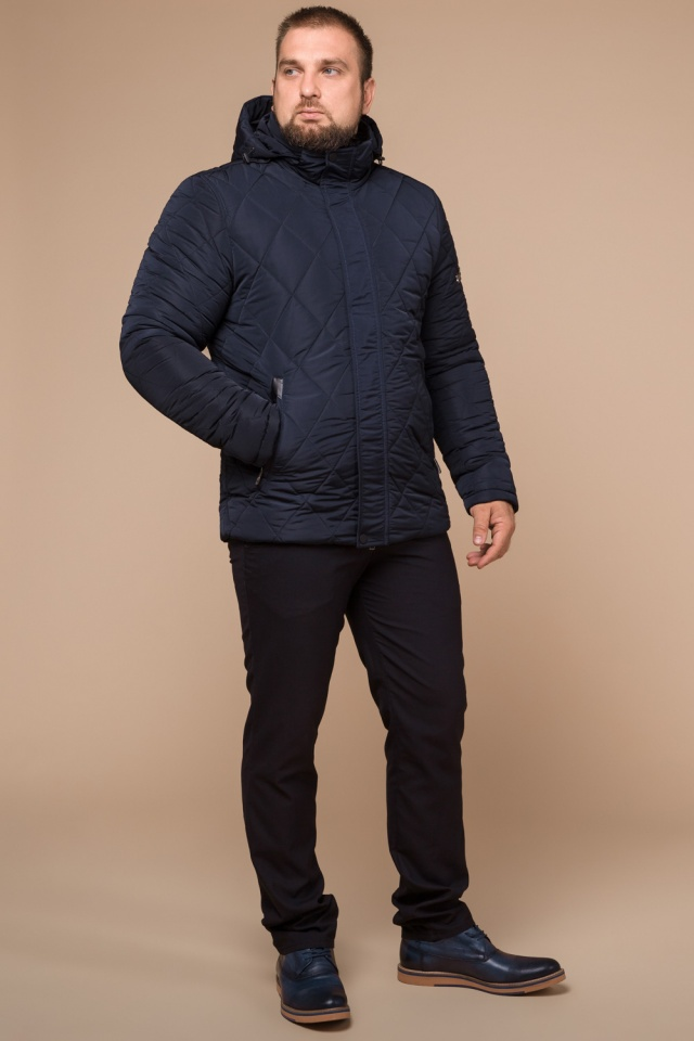 "Синя практична чоловіча куртка на зиму модель 19121 Braggart ""Dress Code"" фото 2"