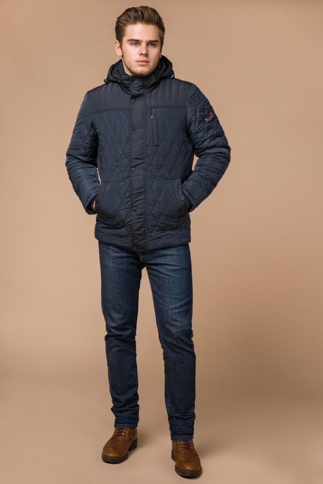 Светло-синяя куртка зимняя на кнопках для мужчин модель 30538