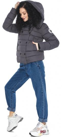 Оригинальная графитовая куртка на девочку осенняя модель 22150 Youth фото 1