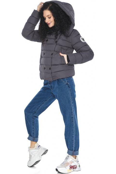 Класична осіння куртка в молодіжному стилі графітова модель 22150 Youth фото 1