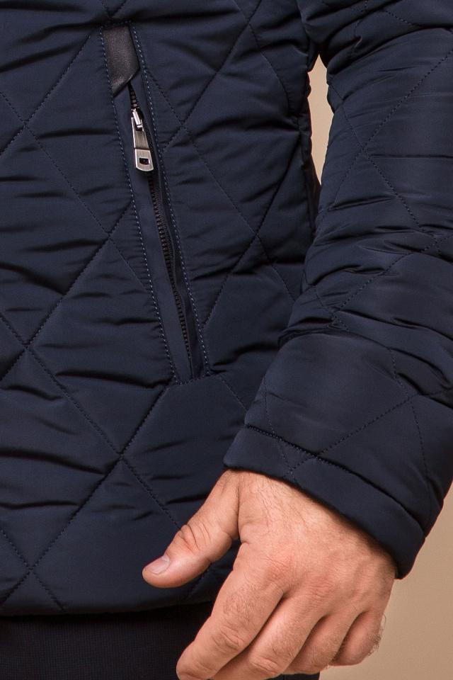 "Синя практична чоловіча куртка на зиму модель 19121 Braggart ""Dress Code"" фото 7"