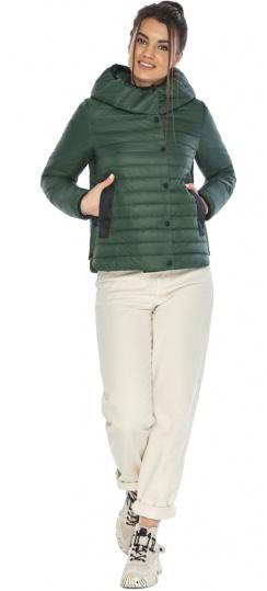 """Женская нефритовая куртка на змейке осенне-весенняя модель 64150 Braggart """"Angel's Fluff"""" фото 1"""