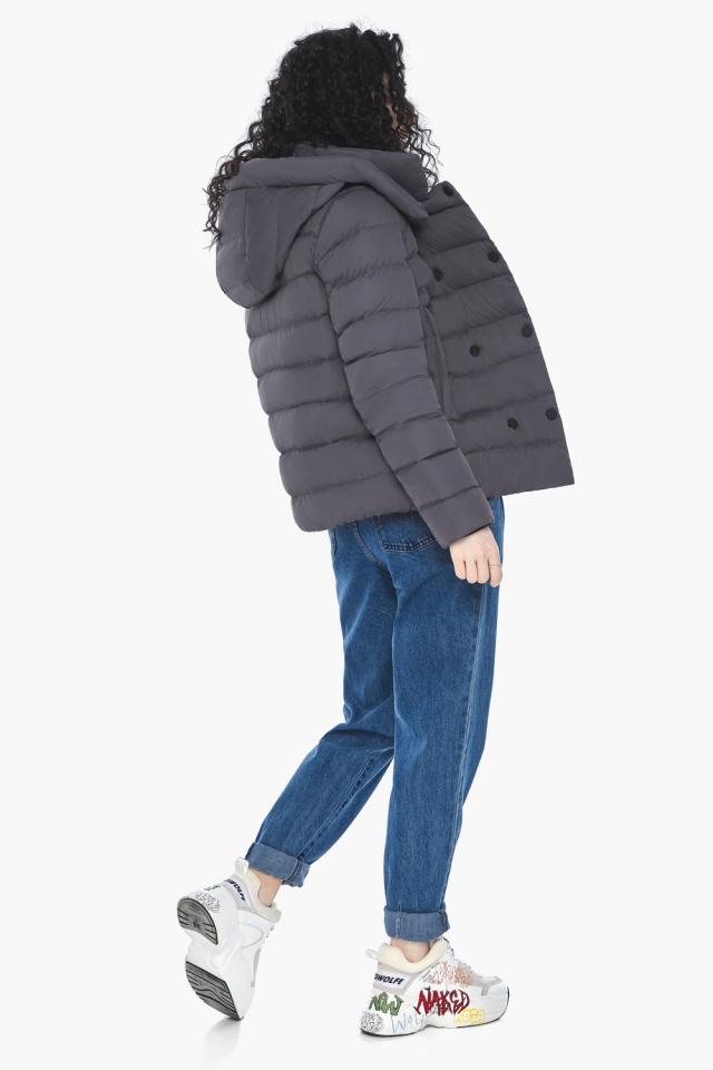Классическая осенняя куртка в молодежном стиле графитовая модель 22150 Youth фото 7