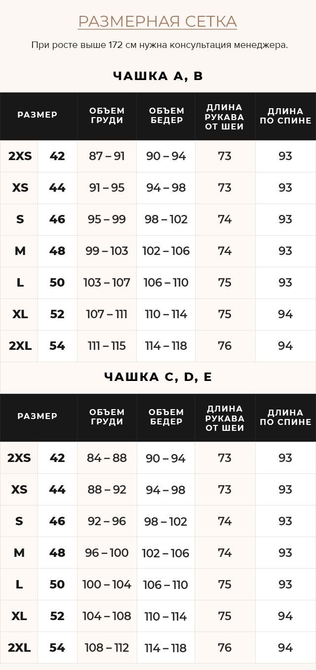 Таблица размеров Куртка фиолетовая женская осенне-весенняя модель 31845