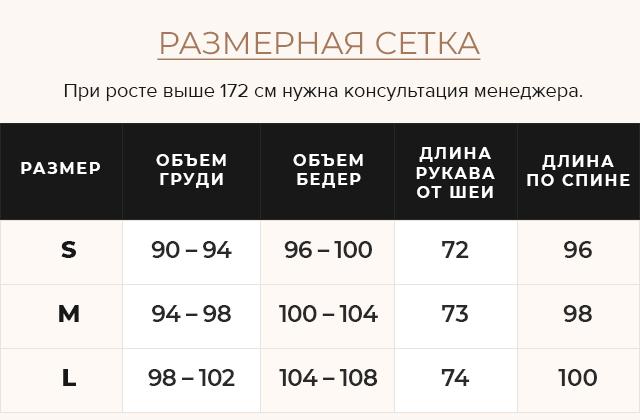 Таблица размеров Куртка серая женская на молнии осенне-весенняя модель 7319