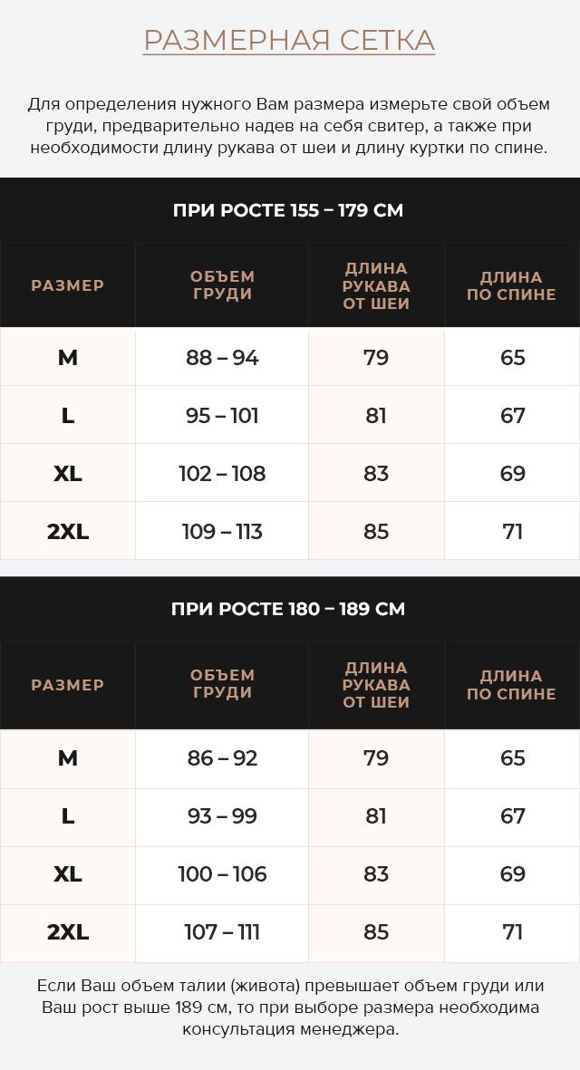Таблица размеров Подростковая куртка в стиле бомбер тёмно-синяя модель 46575