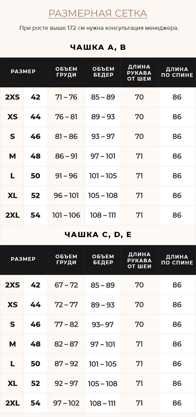 Таблица размеров Женская осенне-весенняя куртка практичная цвет маренго модель 39002