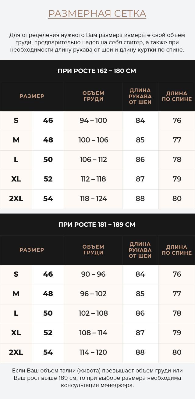 Таблица размеров Подростковая куртка на мальчика зимняя практичная цвет тёмно-синий-коричневый модель 3570