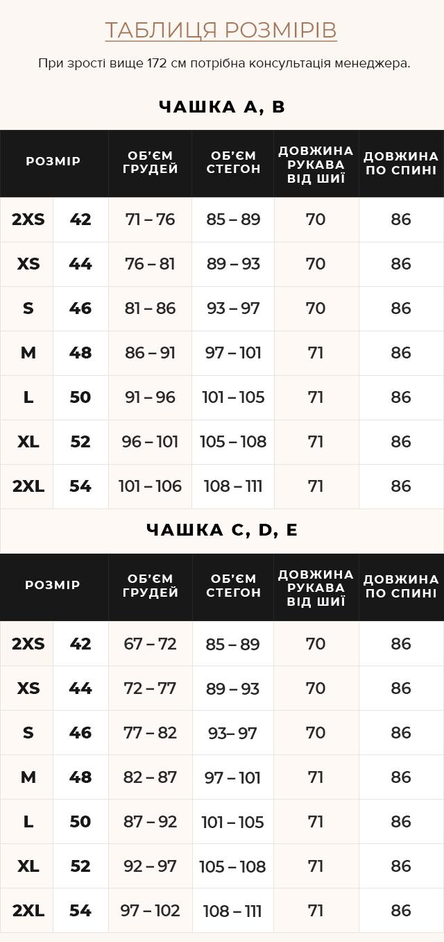 Таблиця розмірів Жіноча куртка фірмова колір темна блакить модель 39002