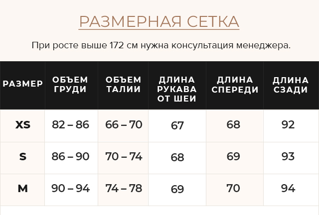 Таблица размеров Куртка осенне-весенняя синяя женская модель 25755