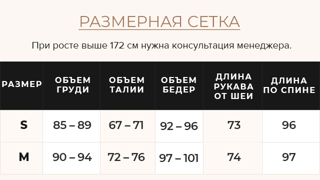 Таблица размеров Женская графитовая куртка зимняя с оригинальной меховой опушкой модель 085